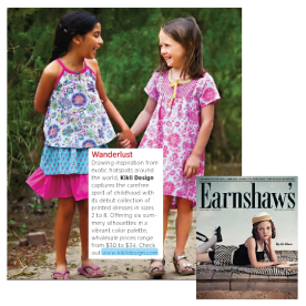 Kikli Design press coverage in Earnshaw's magazine